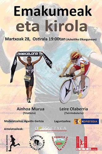 Mujeres y deporte: Ainhoa Murua y Leire Olaberria en Azkoitia. 28 Marzo 2014
