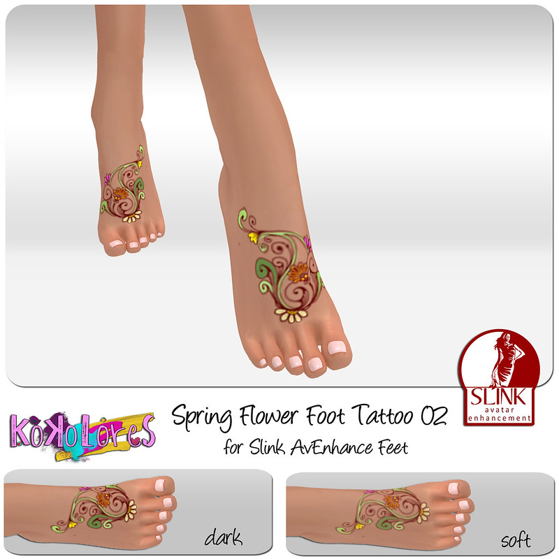 [KoKoLoReS]BP - Spring Flower Foot tattoo 02