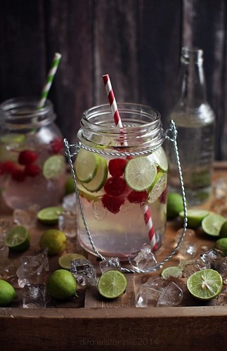 raspberry lime infused coconut water