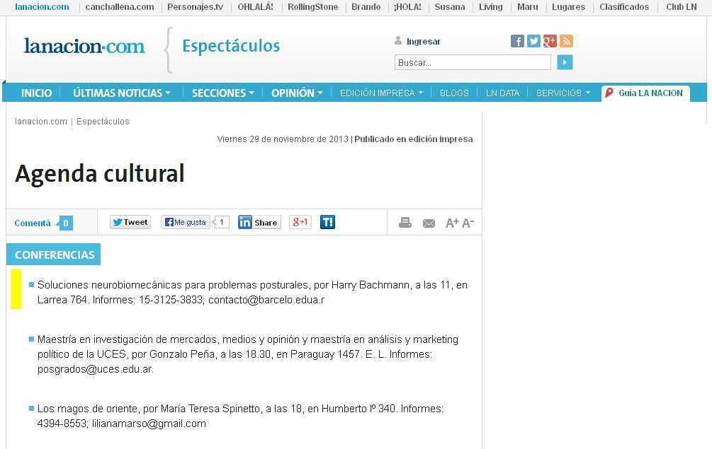 Site Diario La Nación 29-11-13