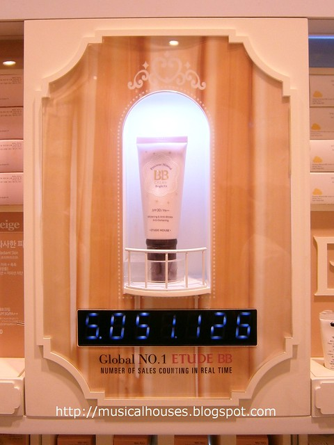 Etude House flagship store BB cream counter