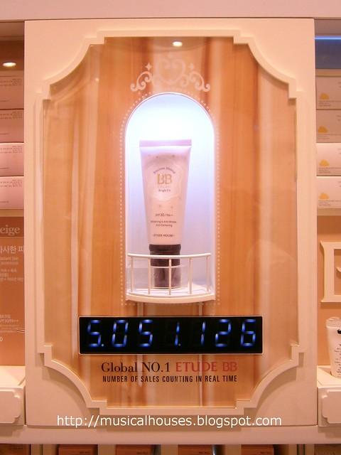 Etude House flagship store BB cream counter