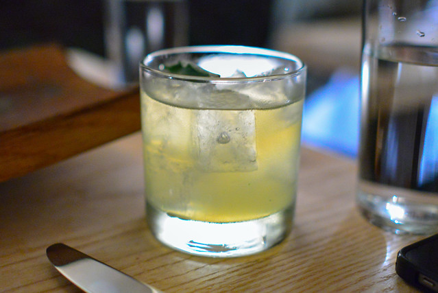 3 SHEETS BELVEDERE VODKA, CHAMOMILE GRAPPA, LEMONGRASS, WHITE BALSAMIC, LEMON, HONEY