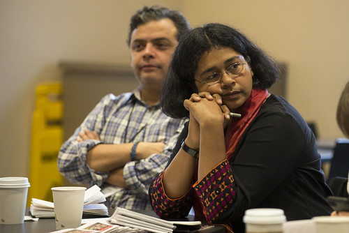 Dada (El Faro) and Mojumdar (Himal Southasian). ISOJ 2014. Global Roundup Breakfast.