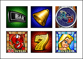 free Angel or Devil slot game symbols