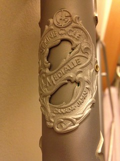 Sandblasted Sekine head badge.