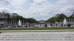 Looking to Lincoln from the WWII Memorial