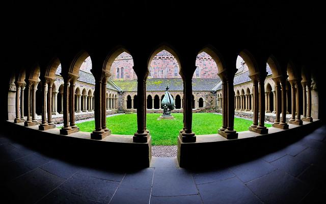Through the cloisters