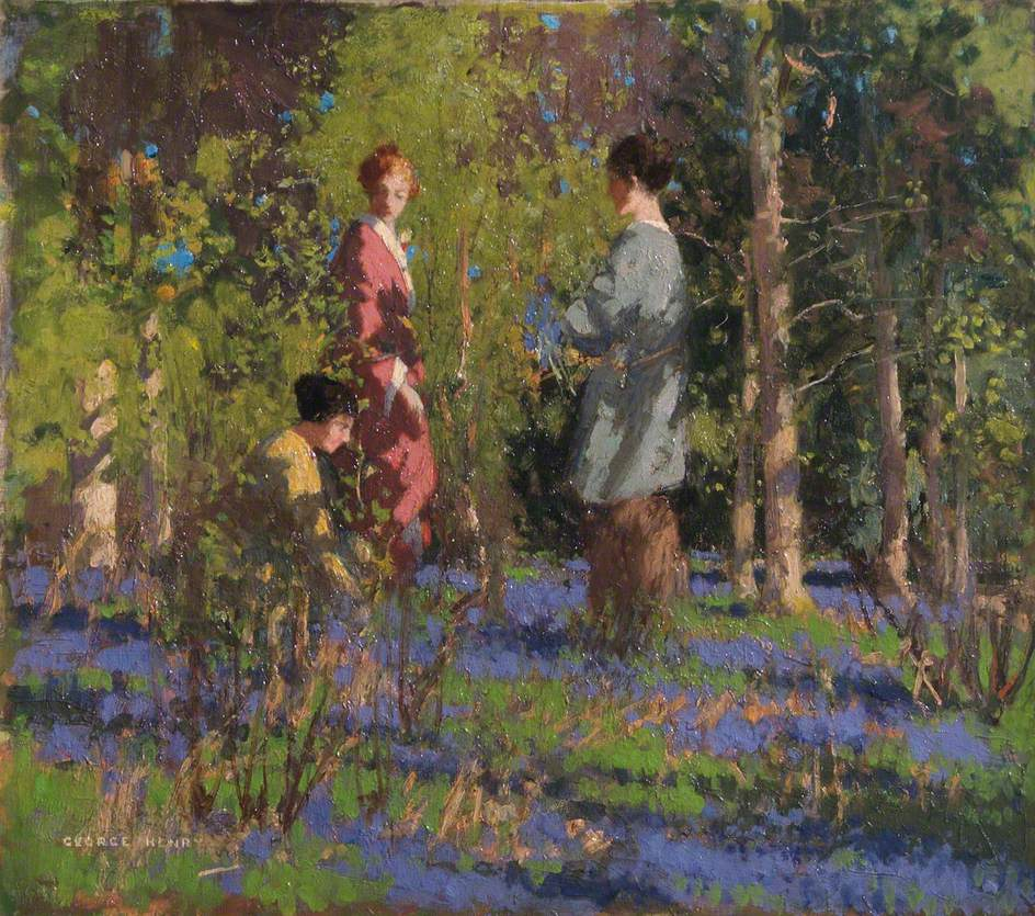 Picking Bluebells by George Henry, R.A., R.S.A., R.S.W.