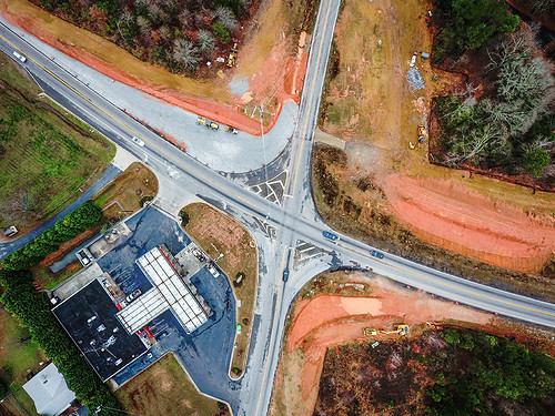 Birth of Bold Springs Road roundabout