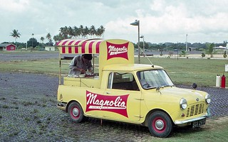 1965 Mini icecream truck at 41 Sqn, Changi