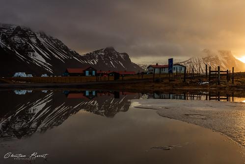 höfn iceland islande islanda islandia south coast sunrise reflet reflection 2017