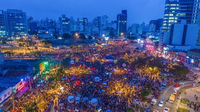 Cerca de 70 mil pessoas estiveram no ato da Greve Geral no Largo da Batata, na capital paulista - Créditos:  / Ricardo Stuckert