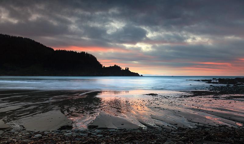 Robin Hood's bay at sunrise, Marlborough, New Zealand