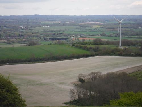 Glyndebourne Wind Turbine, from Saxon Cross Copse