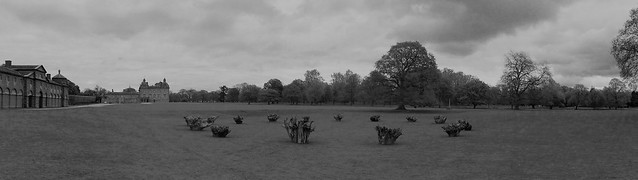 Richard Long's henge at Houghton Hall's EARTH SKY exhibition