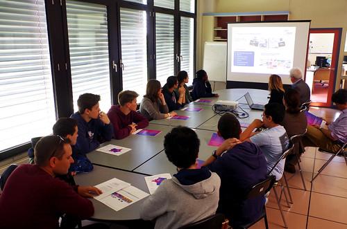 Visite de lycéens à notre Centre de contrôle international de Rambouillet