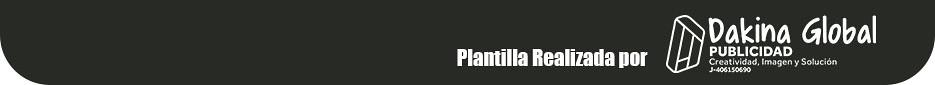 Plantilla Realizada por Dakina Global
