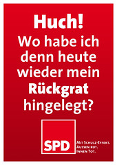SPD-Wahlplakat: Rückgrat