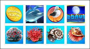 free Dolphin Cash slot game symbols