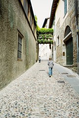 Walking Bergamo old streets