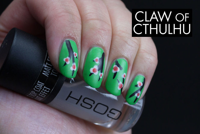 Cherry Blossom Nail Art with Rainbow Honey FAB Summer Set