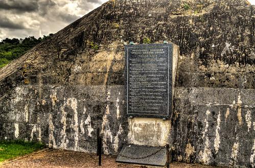 Omaha Beach - WN65 - Provisional Engineer Special Brigade Group memorial