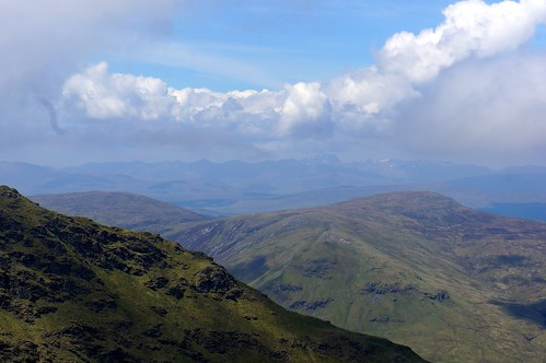Looking Northwest towards Ben Nevis and the Mamores