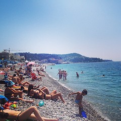 Beautiful last day in Nice. #nice #france #frenchriviera #cotedazur #beach #scenery #water #sea #stonebeach #sand #surf #europe #travel