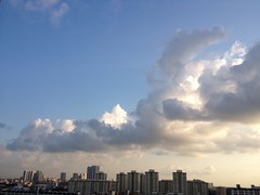 Cumulus clouds over Toa Payoh town
