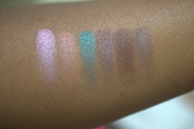 Too Faced Summer Eyes swatches