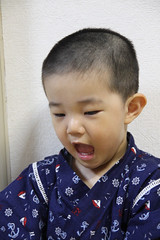 甚平を着るとらちゃん 2歳9ヶ月 2013/6