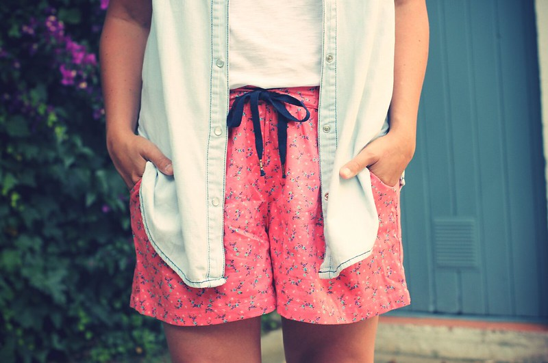 Look Flowered shorts