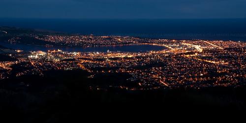 newzealand night puerto lights luces noche harbour cities cityscapes ciudades porto noite dunedin luzes novazelândia longaexposição cidades paisajeurbano nuevazelanda longexposures paisagemurbana largaexposición 2013