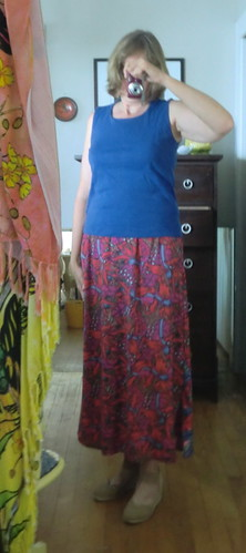 Long skirt made from dress