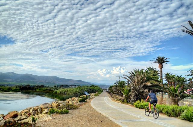 On the bike trail