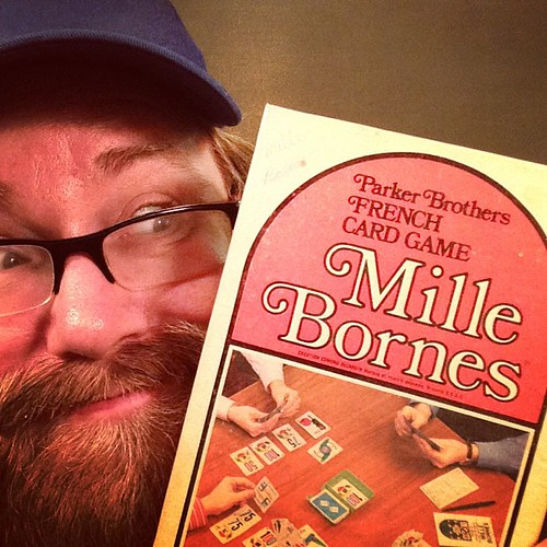 """Mille Bornes"" One of my very favorite games as a Child! Car Racing Card Game! From Mike Mozart's Childhood games collection!"