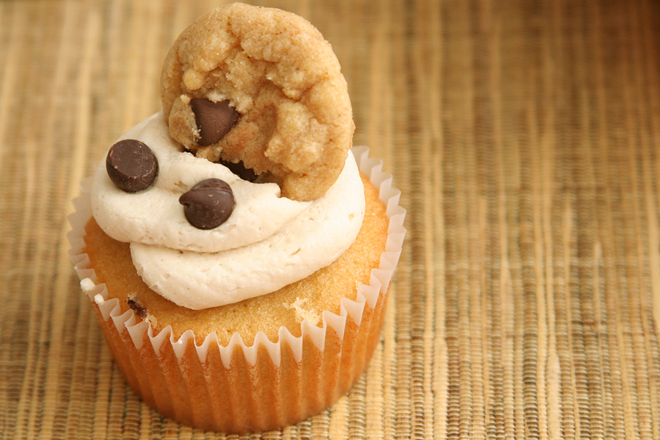 chocolate chip cookie dough cupcakes 8