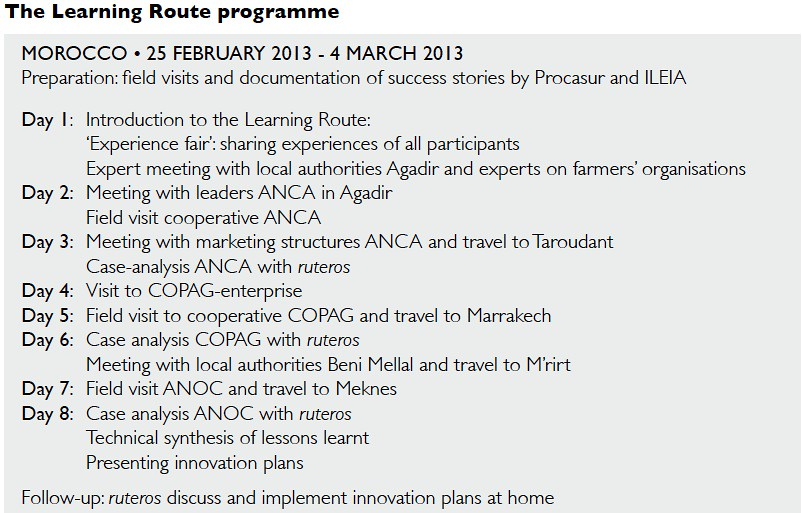 The Learning Route Programme