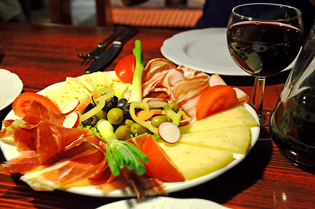Ham & Cheese food platter, Hvar, Croatia