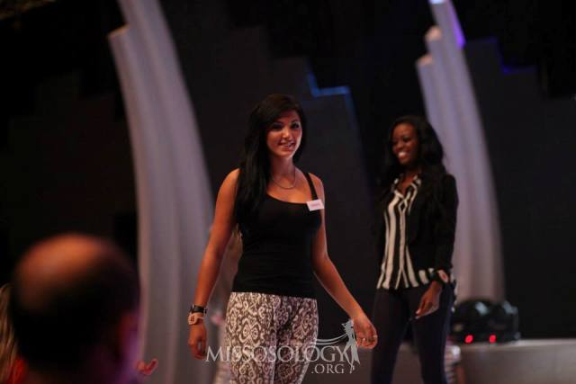 Miss Ghana 2012 Naa Okailey Shooter at Miss World Opening Ceremony