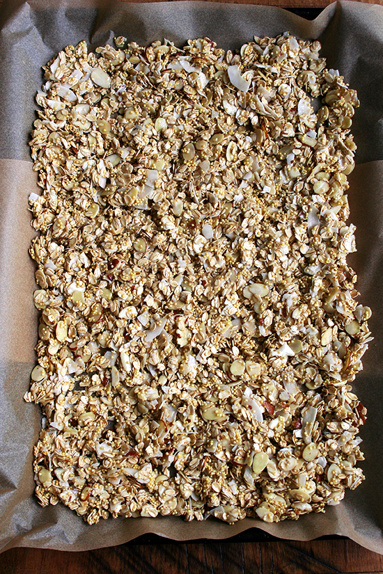 just-mixed muesli
