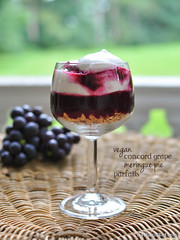 Vegan Concord Grape Meringue Pie Parfaits