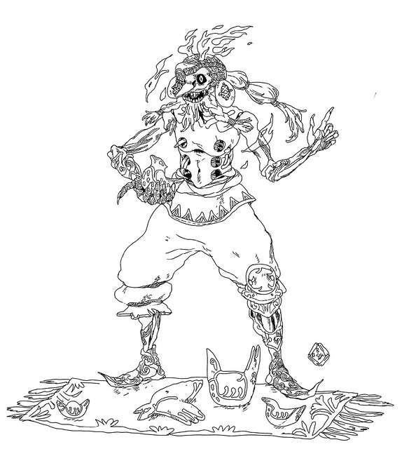 Kajľh the fire nomad who sells clay birds