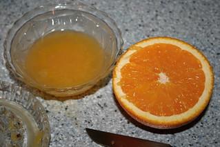 Flan de naranja y almendra