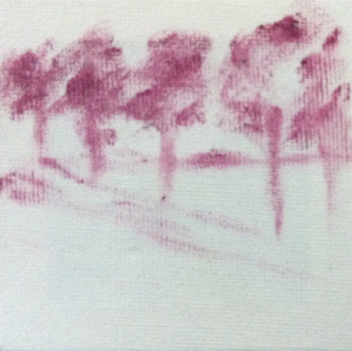Row of Trees (Mini-Painting as of Sept. 26, 2013) by randubnick