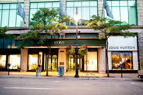 La Maison OGILVY, a luxury department store on Rue de Sainte-Catherine and Rue de la Montagne
