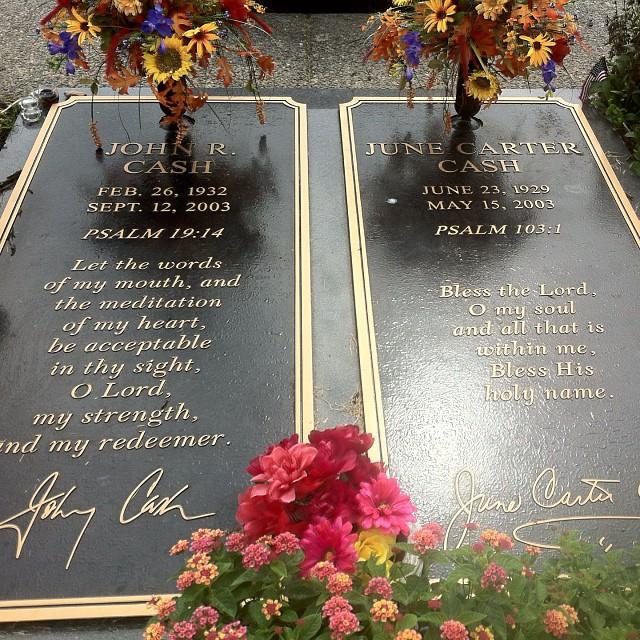Final resting place. Johnny Cash. June Carter Cash. #johnnycash #maninblack #tennessee.
