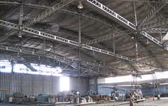 Intérieur d'un hangar JD à Toulouse-Francazals
