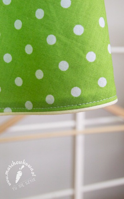 Green 50s style apron, szycie, grochy, bawełna, house of cotton, retro fartuszek, blog, moda, marchewkowa